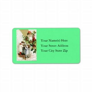 Vintage Santa Claus Address Label