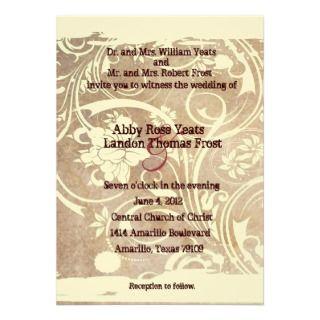 Shabby Rustic Wedding Invitation