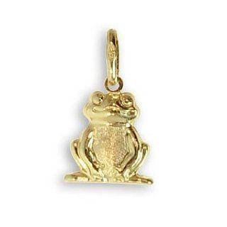 Frosch Charms Anhänger echt 14 Karat Gold 585 (Art.206028)