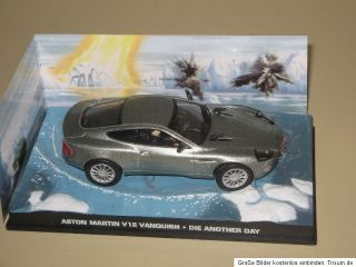 43 James Bond 007 Aston Martin V12 Vanquish Nr.2 PVC BOX E 154,C 130
