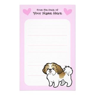 Shih Tzu Love (puppy cut) Custom Stationery