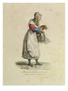 The Nanterre Cake Seller, Number 10 from The Cries of Paris Series Giclee Print by Antoine Charles Horace Vernet