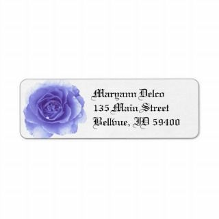 Blue Rose Address Label