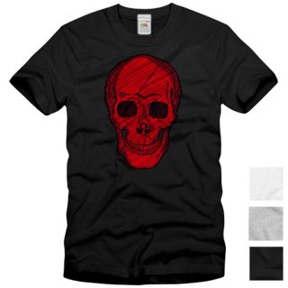 Heavy Skull T Shirt Totenkopf neu Street Wear Tattoo Metal Rock indie