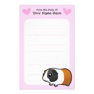 Guinea Pig Love (smooth hair) Personalized Stationery