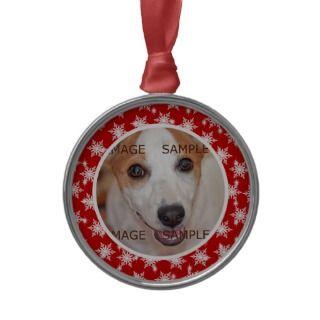 Pet memorial photo verse PERSONALIZE Ornaments