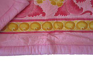 Tagesdecke 220x240 Überwurf Bettdecke pink Bettüberwurf gelb Blumen