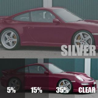 DARK SILVER 5% CAR WINDOW TINT 6M x 75CM FILM TINTING