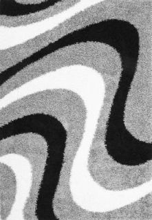 JOY 107 Silber Designer HOCHFLOR SHAGGY Läufer Teppich 80x300 neu