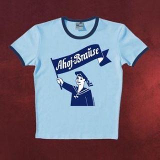 Lizenziertes Ahoj Brause Logo T Shirt hellblau Rundhals