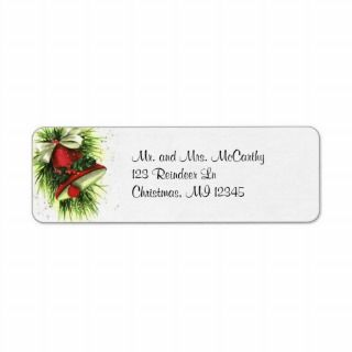 Vintage Christmas Return Address Label