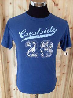 OLD NAVY vintage shirt crestside 28 t shirt XL blau