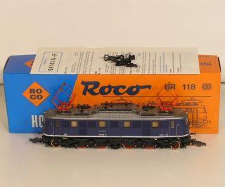 3w17  Roco 04141 B E Lok BR 118 mit Verpackung.