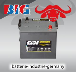 GEL Batterie Exide 12V 110Ah ES1200 G110 Boot Wohnmobil Reha Nato MAN