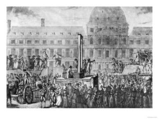 The First Execution by Guillotine, Place Du Carrousel, 13th August 1792 Giclee Print