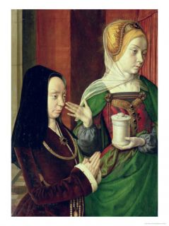 Madeleine of Bourgogne Presented by St. Mary Magdalene Giclee Print by Master of Moulins