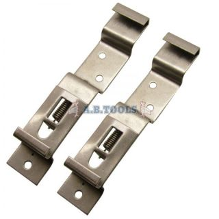 Trailer Number Plate Clips / Holder Spring Loaded Stainless Steel PAIR