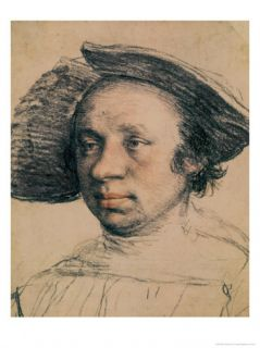 Portrait of a Youth in a Broad Brimmed Hat, circa 1524 26 Giclee Print by Hans Holbein the Younger