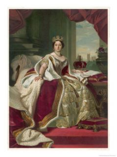 Queen Victoria Circa 1845 Giclee Print by Winterhalter