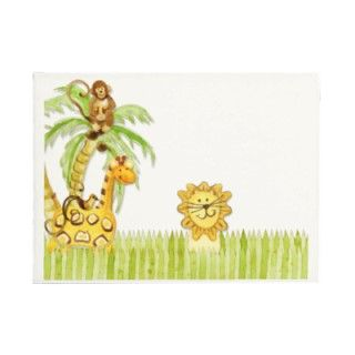 Jungle Babies, Boy Baby Shower Envelopes