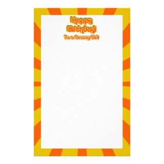 Happy Birthday to a Groovy Girl! Stationery