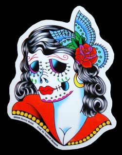 Muerta AUFKLEBER Sticker La Catrina Tattoo Skull Mexico