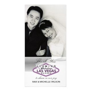 Las Vegas Wedding Thank You Photo Card