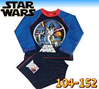 STAR WARS PYJAMA SCHLAFANZUG SHIRT 104,116,122,128,134,140,152