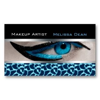 Makeup Artist Salon Print Business Card