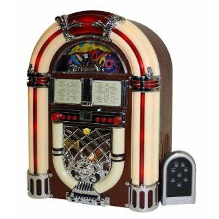 Nostalgie Juke Box CD  Player Radio mit Beleuchtung
