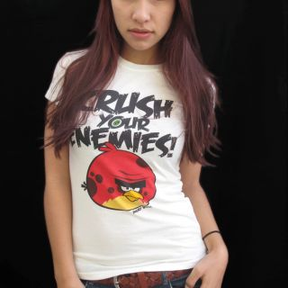 ANGRY BIRDS VINTAGE GIRLIE T SHIRT Gr.S CRUSH YOUR ENEMIES Phone