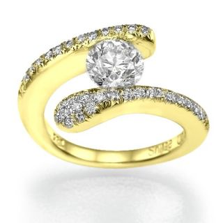 89 Carat I/VS1 Diamant Solitar Ring Brillantring 14kt 585 Weißgold