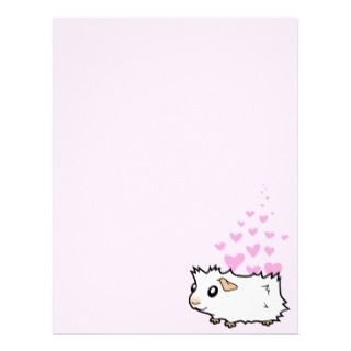Cartoon Guinea Pig (chocolate) Customized Letterhead