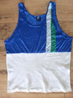 vintage NIKE oregon tank top running shirt mesh 80`s XL