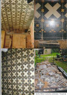 antike Bodenfliesen Fliesen Zementfliesen 12,4 m²