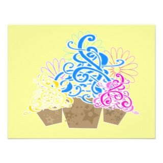 FANCY CUPCAKES INVITATIONS