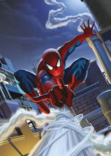Fototapete SPIDER MAN ROOFTOP 127x184 Marvel Comic Spiderman über den
