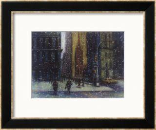 Wall Street Blizzard, New York City Framed Giclee Print by Patti Mollica