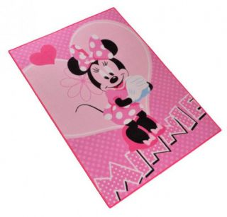 Kinder Teppich Disney Minnie Mouse  Flower 95x133 cm , rosa