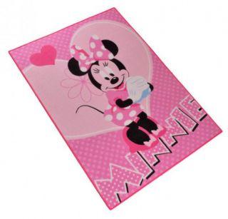 Kinder Teppich Disney Minnie Mouse  Flower 95x133 cm , rosa