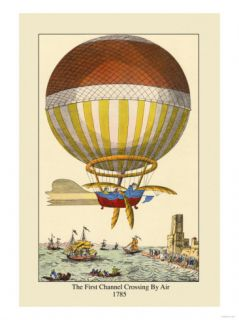 First Channel Crossing by Air, 1785 Posters