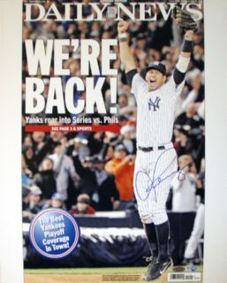 Alex Rodriguez Were Back! 10 26 2009 Daily News Cover Photo (MLB Auth) Photo
