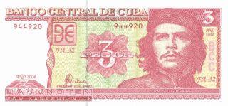 Kuba / Cuba   3 Pesos P.127   Ernesto Che Guevara UNC