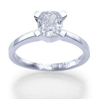 00 Carat D/SI Diamant Solitar Ring 14kt 585 Weißgold Diamantring