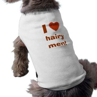 Love Hairy Men Funny Doggie Tee Template