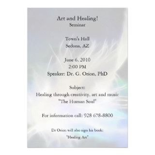 Angel Feather Healing! Personalized Invites