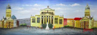 BERLIN Gendarmenmarkt handgemalt Ölgemälde oil painting signiert 40