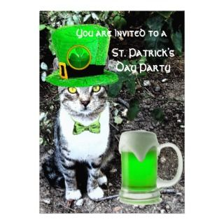 IRISH BEER ST PATRICKS DAY PARTY CUSTOM ANNOUNCEMENT