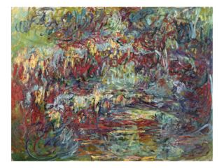 The Japanese Bridge at Giverny, 1918 24 (Oil on Canvas) Giclee Print by Claude Monet