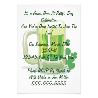 St Patricks Day Personalized Invitation